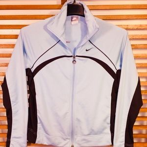 Nike Jacket L Women's Blue Brown Zip
